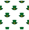 green top hat with buckle pattern seamless vector image
