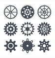 Icons cogwheel vector image