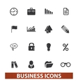 business presentation icons set vector image vector image