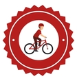 bicycle Extreme sport athlete avatar vector image