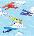 seaml colors airplanes-04 vector image