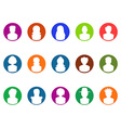 round button avatar icons vector image