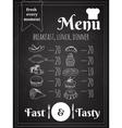 Food Menu Poster Design vector image vector image