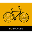 Bike concept bicycle line art nature mountain vector image vector image