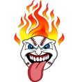 baseball fire vector image vector image