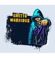 Young gangster with gun vector image