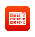 binary code icon digital red vector image