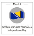 Bosnia and Herzegovina Independence Day vector image