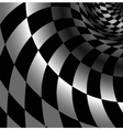 Checkered abstract background with perspective vector image