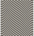 Checkered black and white background vector image