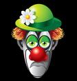 clown face vector image