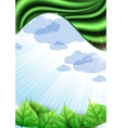 Eco Green Ackground With Leaves vector image