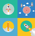 Element of rocket start up concept icon in flat vector image