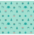 Festive flat Christmas and New year seamless vector image