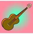 Guitar Pop art vector image