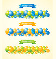 happy easter banners set vector image