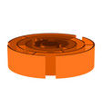 isometric orange maze vector image