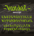 vandal graffiti font vector image