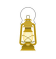 vintage kerosene glass lamp flat design vector image