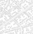Imaginary city plan Isometric City background vector image
