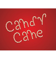 Candy Cane Words3 vector image