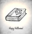 Witches book with spells in a sketch style vector image