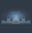 hungarian travel landmark of historical building vector image vector image