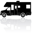 Motorhome Camper silhouette icon vector image