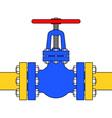 Pipeline valve vector image vector image