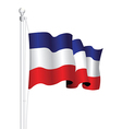 serbia and montenegro flag vector image vector image