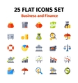 Business and finance icon set in flat vector image