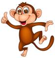 Cute monkey dancing vector image