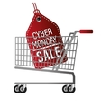 cyber monday sale offer cart vector image
