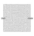 find the right way logical games maze game vector image