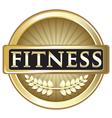 Fitness Gold Emblem vector image