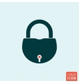 Lock icon isolated vector image