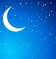 Night with Moon vector image