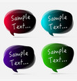 set of colorful bubbles for speech design vector image
