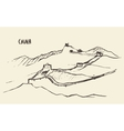 Sketch Great Wall of China vector image