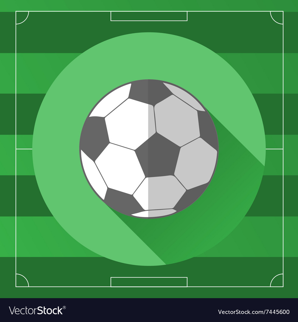 Classic soccer ball icon vector