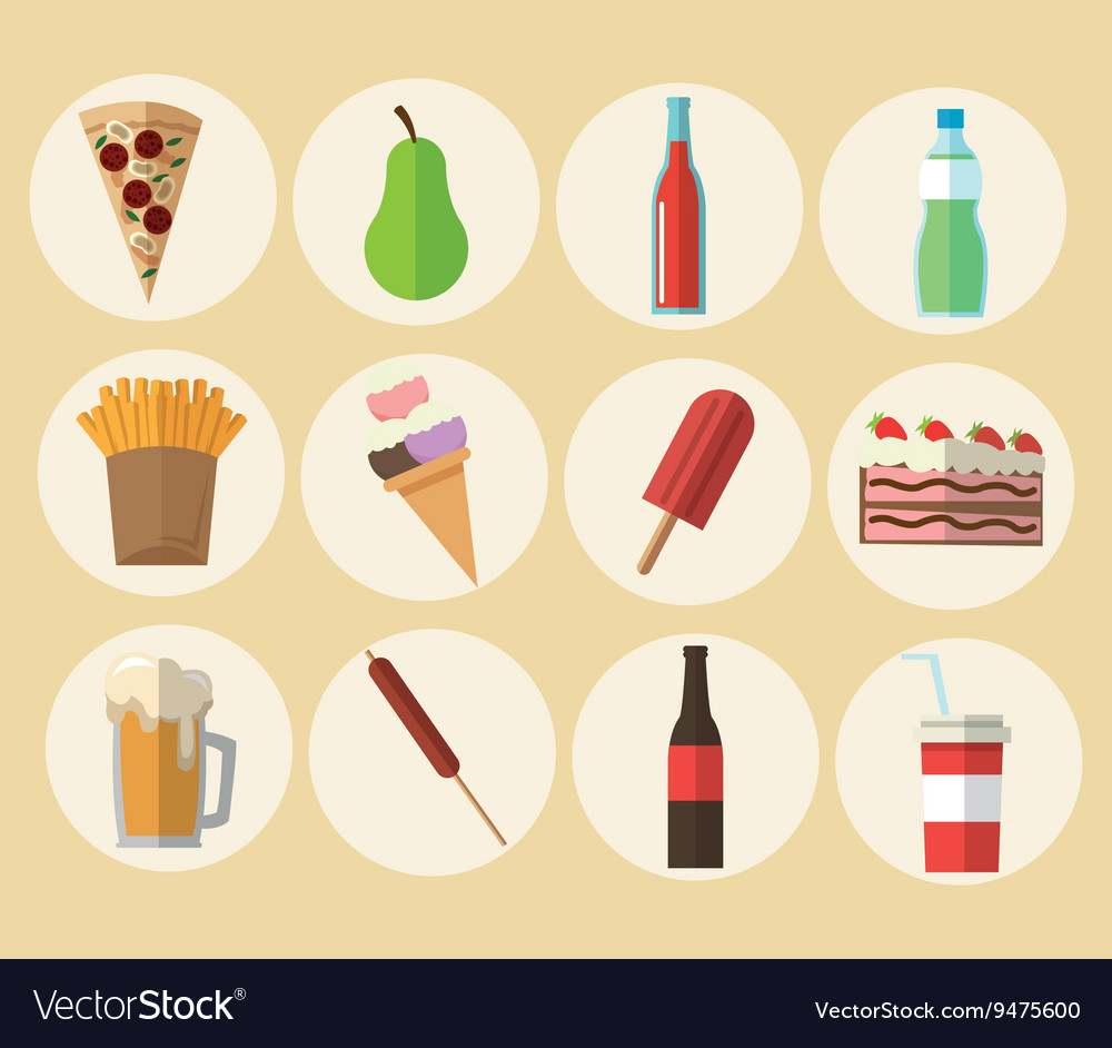 Delicius food food icon set icon menu concept vector