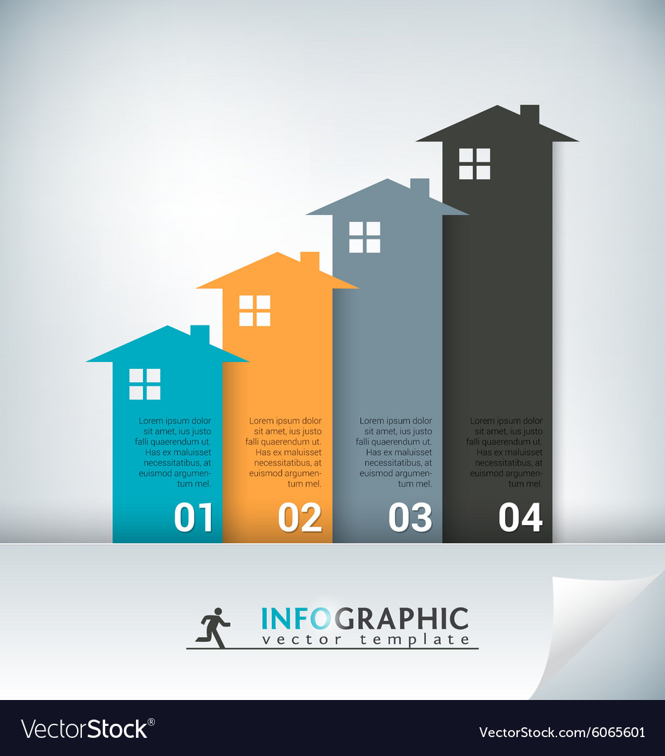 Real estate abstract concept infographic chart vector