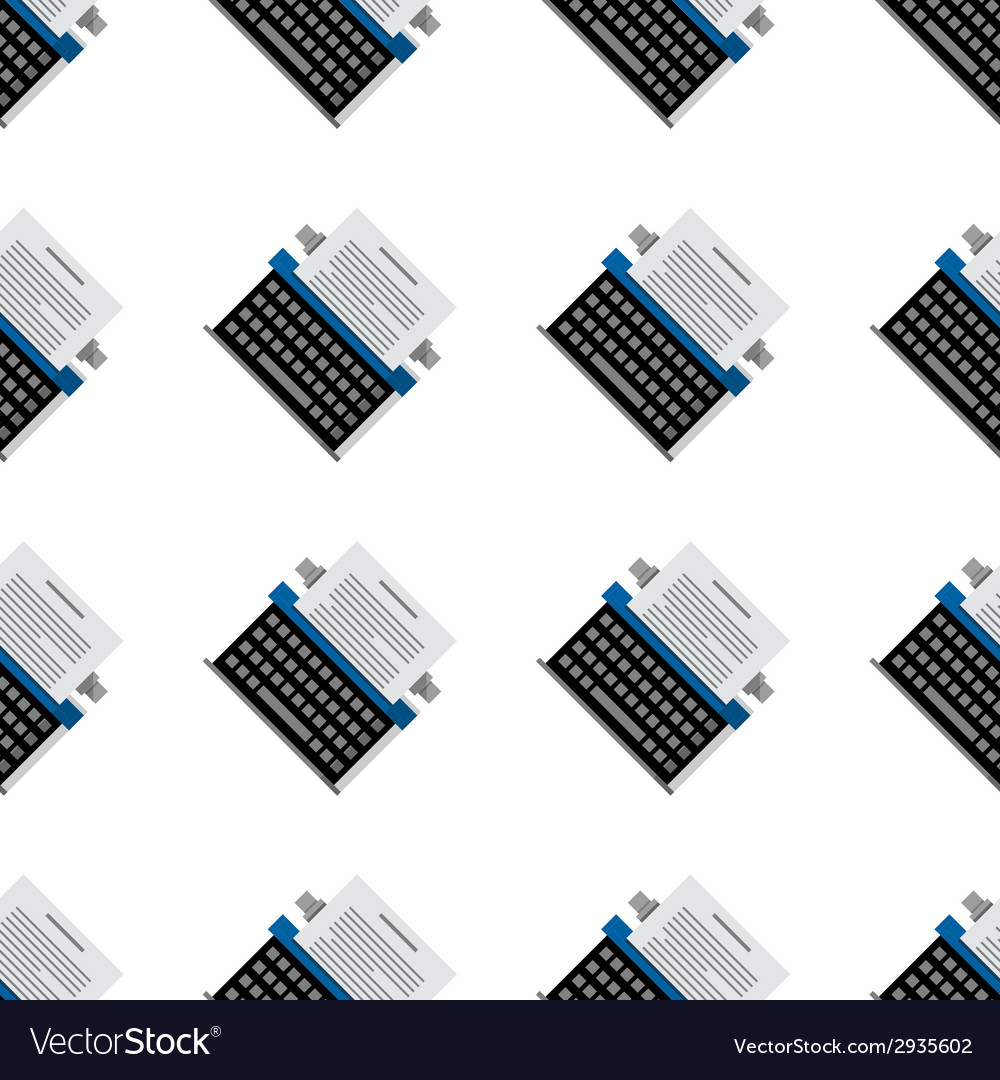 Background for office equipment typewriter vector