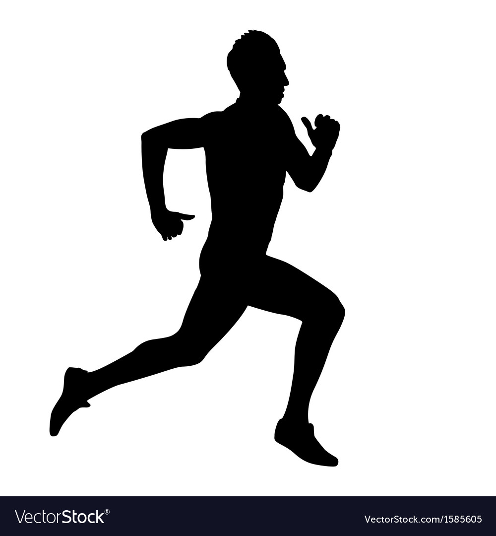 Running silhouettes vector