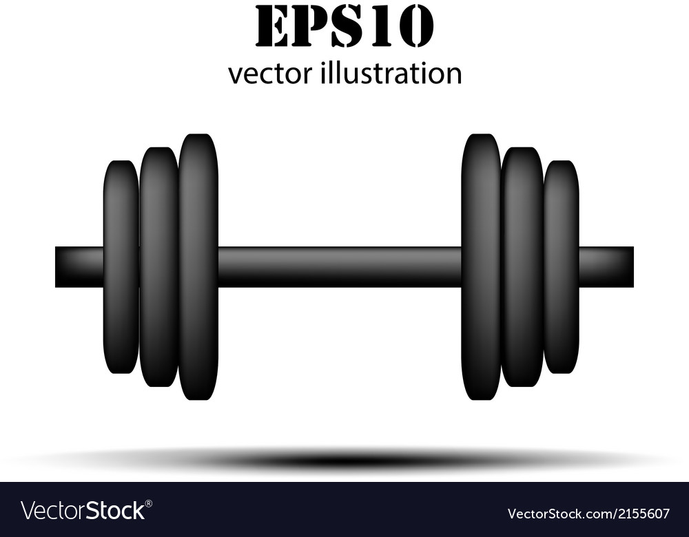 Barbell background vector