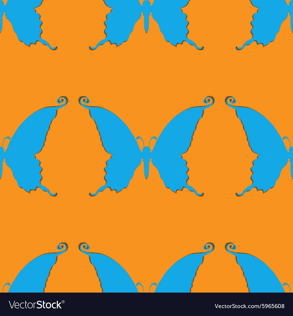 Background of butterflies vector