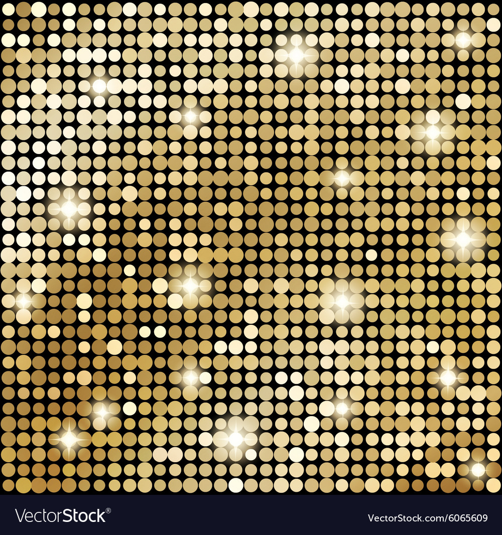 Abstract gold mosaic background vector