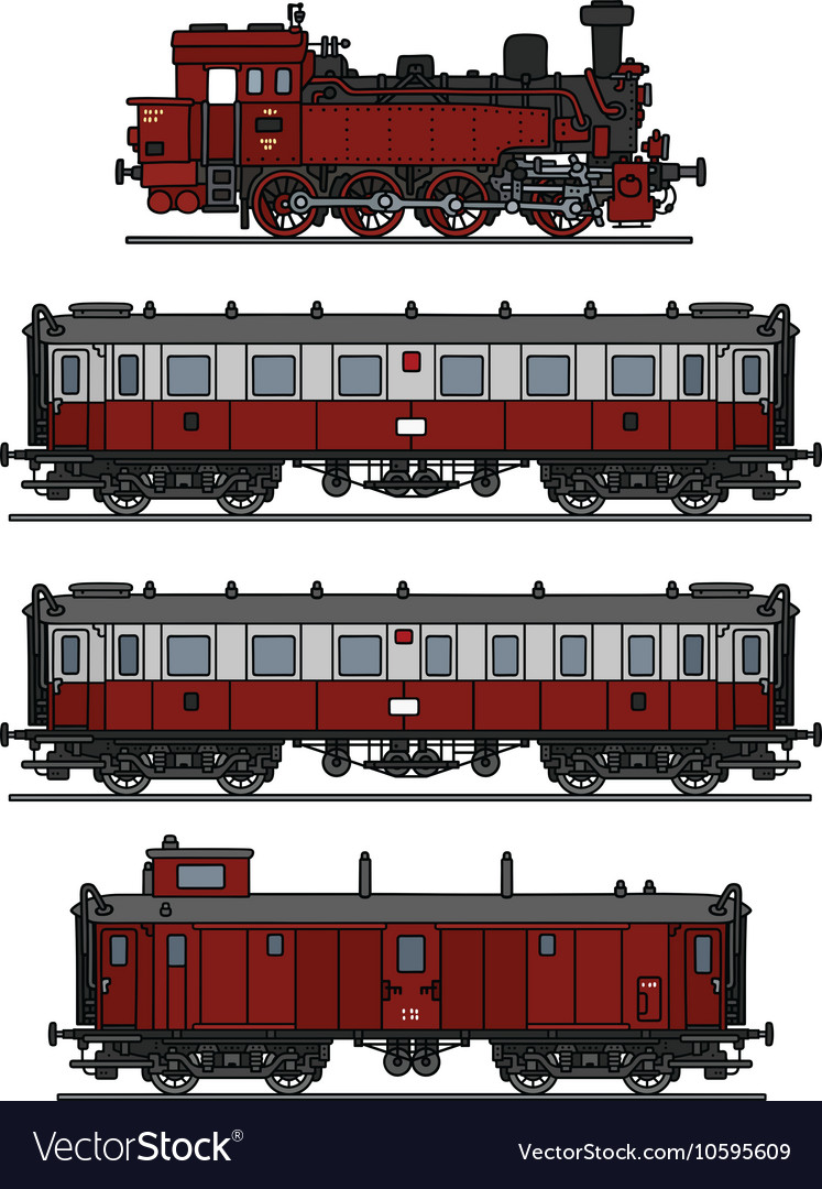 Retro steam train vector