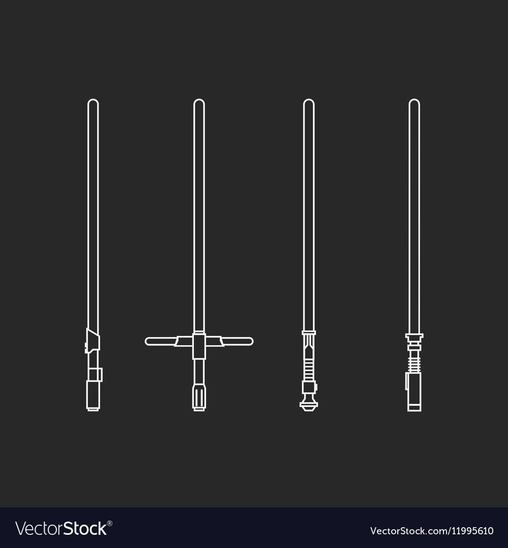 Four light swords vector