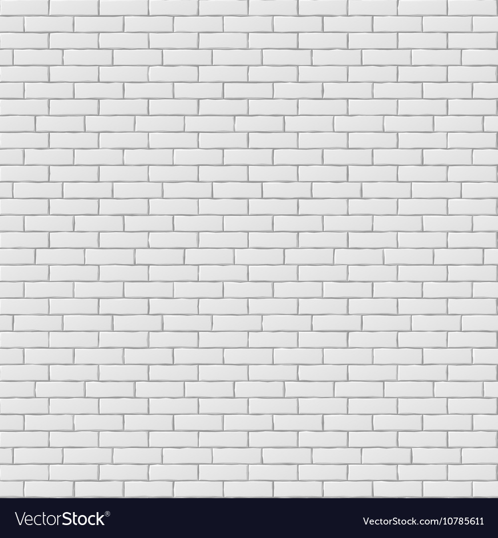 White blank brick wall seamless pattern texture vector